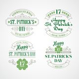 Typography St. Patricks Day. Vector illustration. EPS 10 Royalty Free Stock Photo