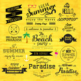 Typography Summer Holiday Badge Vector Design Royalty Free Stock Photography