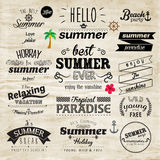 Typography Summer Holiday Badge Vector Design Royalty Free Stock Images