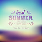 Typography Summer Holiday Quote Vector Design Stock Images
