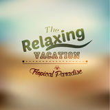 Typography Summer Holiday Quote Vector Design Stock Photography