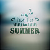 Typography Summer Holiday Quote Vector Design Royalty Free Stock Photo