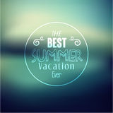 Typography Summer Holiday Quote Vector Design Stock Image