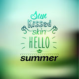Typography Summer Holiday Quote Vector Design Stock Photo