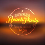 Typography Summer Holiday Quote Vector Design Royalty Free Stock Image