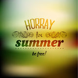 Typography Summer Holiday Quote Vector Design Stock Photos