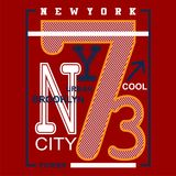 New york city/brooklyn Typography Design for t-shirt. Typography for t-shirt,vector illustration art,new design Stock Photos