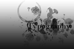 Typography Royalty Free Stock Photos
