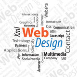 Typography Web Design Royalty Free Stock Images