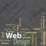 Typography Web Design Royalty Free Stock Photography