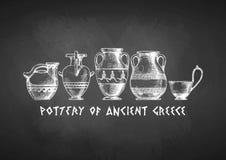 Typologia Greccy wazowi kształty ilustracja wektor