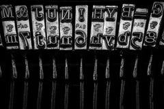 Typos of an old typewriter Stock Images