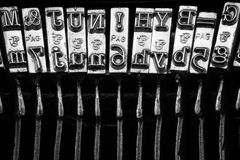 Typos of an old typewriter Royalty Free Stock Photography
