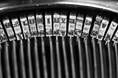 Typos van een oude schrijfmachine Stock Afbeeldingen