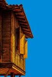 Typowa Bułgarska drewniana architektura Zdjęcia Royalty Free