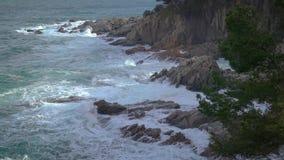 Typowa część hiszpańszczyzny Costa Brava blisko wioski Sant Antoni de Calonge zbiory wideo