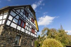 Typowa Eifel wioska, Niemcy Zdjęcia Stock