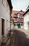 typowa europejska ulica Obrazy Stock