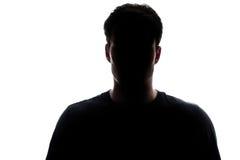 Typowa górnego ciała mężczyzna sylwetka jest ubranym tshirt Obraz Stock