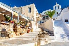 Typowa grecka architektura na Naxos wyspie, Cyclades, Grecja Zdjęcie Stock