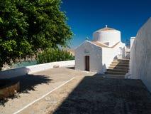 Typowa grecka kaplica Zdjęcia Royalty Free