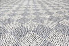Typowa kamienna podłoga Lisbon Obraz Royalty Free