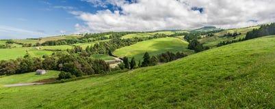 Typowa Krajobrazowa panorama w Sao Miguel, Azores Zdjęcie Stock