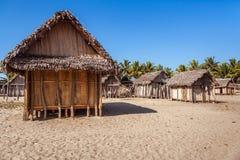 Typowa malagasy wioska Zdjęcia Royalty Free
