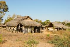 Typowa malagasy wioska - afrykańska buda Zdjęcia Royalty Free