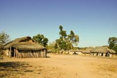 Typowa malagasy wioska - afrykańska buda Zdjęcie Royalty Free