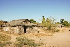 Typowa malagasy wioska - afrykańska buda Obraz Royalty Free