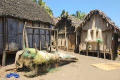 Typowa malagasy wioska - afrykańska buda Fotografia Stock