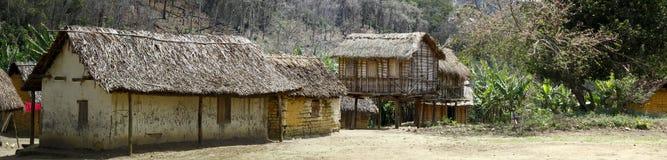 Typowa malgasy wioska - afrykańska buda Obrazy Stock