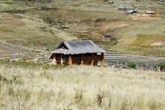 Typowa malgasy wioska - afrykańska buda Zdjęcia Royalty Free