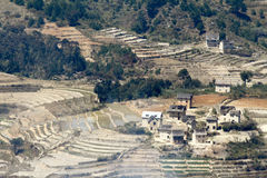Typowa malgasy wioska - afrykańska buda Obraz Stock