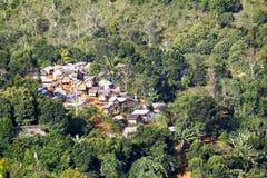 Typowa malgasy wioska - afrykańska buda Zdjęcie Royalty Free
