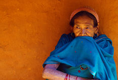 Typowa Nepalska wioski kobieta Obrazy Royalty Free