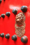 typowa pałac chińska drzwiowa czerwień Fotografia Stock