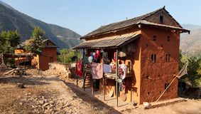 Typowa Piękna wioska w Nepal Zdjęcia Royalty Free