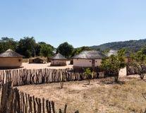 Typowa plemienna wioska w Zimbabwe Zdjęcia Stock