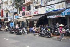 typowa scena na Bui Vien ulicie Zdjęcia Stock