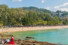 Typowa scena w Karon Phuket Tajlandia zdjęcie stock