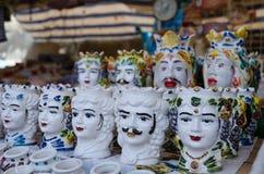Typowa Sycylijska ceramika zdjęcia royalty free