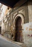 Typowa ulica fez El Bali Medina fez Morocco Obraz Stock