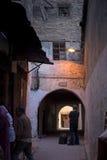 Typowa ulica fez El Bali Medina fez Morocco Afryka Pólnocna Obrazy Royalty Free
