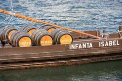Typowa wino łódź w Douro rzece Zdjęcie Stock