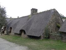 Typowa wioska Brittany Francja Obrazy Royalty Free