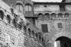 Typowa wioska San Gimignano Zdjęcie Royalty Free