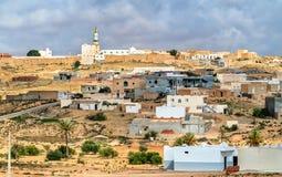 Typowa wioska w Południowym Tunezja, Tataouine Governorate Fotografia Stock