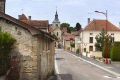 Typowa wioski ulica w Francja Fotografia Stock